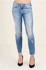 True Religion Women's Sara Cigarette Crop Jeans Size 26 NWT Everlasting Blue TR