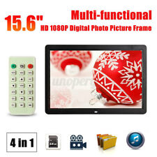 15.6'' HD LCD Digital Photo Frame Picture 1080P MP4 Movie Player Remote