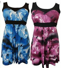 Unbranded Plus Size Floral Knee Length Dresses for Women