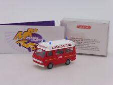 Wiking 0601 32 # Volkswagen VW LT 28 Bus rot-weiß Feuerwehr Einsatzleitung 1:87