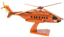S-92 HELICOPTER MODEL NATURAL WOOD -W- Personalized Plaque