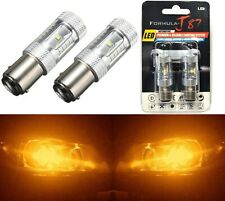 LED Light 30W 2357 Amber Orange Two Bulbs Front Turn Signal Replacement Stock