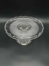 EAPG Central Glass #439  SCALLOPED DIAMOND POINT Cake Stand ca 1870's