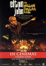 2 ELTON JOHN THE MILLION DOLLAR PIANO CINEMA FLYERS THE COLOSSEUM CAESARS PALACE