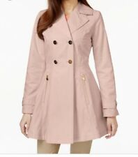 Laundry by Shelli Segal Double Breasted Trench Pink Small NWT