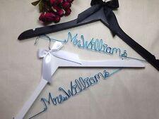 2 Personality wedding hanger, bride bridesmaid gifts,name hanger, bridal hanger.
