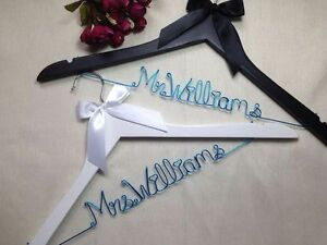 2 Personality wedding hanger, bride bridesmaid gifts,name hanger, bridal hanger.