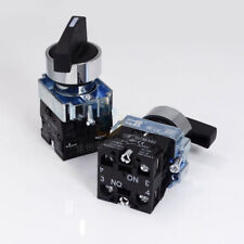 1PCS 22MM Rotary Switch 3 Positions Changeover Panel Mounting 220V 2NO