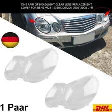 1 Paar Scheinwerferglas Abdeckung Streuscheibe für Benz W211 E350/ 300/200 02-08