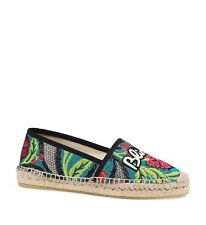 Gucci Blind for Love Brocade Espadrilles Sz 35/5 *2018 Style*