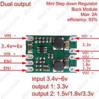 DC-DC Buck Converter Dual Output Module Power Supply Board 5V to 1.5v 1.8v 3.3v