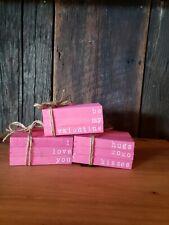 Valentine's Day Mini Wooden Books / Rustic Valentine's/ Farmhouse Valentine