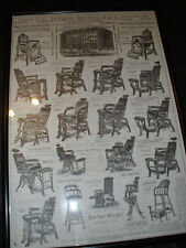 VINTAGE BARBER SHOP ADVERTISING --BERNINGHAUS CHAIRS FROM THE 1880'S NO.61