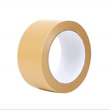 1roll Brown Gummed Kraft Paper Packing Tape Water Activated Tape Carton Box And