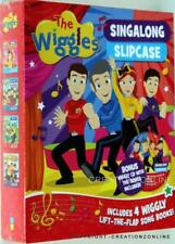 THE WIGGLES SINGALONG SLIPCASE + CD OF SONGS + 4 LIFT THE FLAP SONG BOOKS