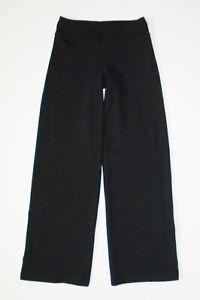 LULULEMON Athletic Jogger Sweat Pants BLACK Loose Wide Leg Yoga Sz 4