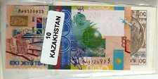 Lot de 10 billets de Banque neufs du Kazakhstan tous différents - Banknotes