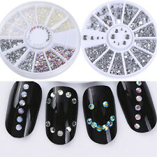 2Boxes Rhinestones 3D Nail Decoration Manicure  For Acrylic UV Gel Nail Art