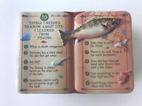 """GiftCo Collectible Tin Life 10 Lessons About Life From Fishing 6X4X2"""""""