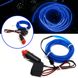 Car Interior Decorative Accessories Atmosphere Wire Strip Lamp Blue LED Light 2M