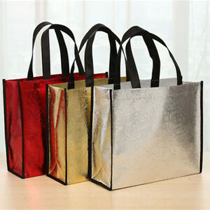 Foldable Reusable Shopping Bags Non-woven Fabric Waterproof Shopping Storage New