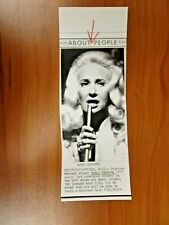 Vintage Wire AP Press Country Singer Tammy Wynette Stand By Your Man, Divorce #2