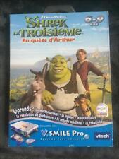 Jeu V.smile Pro Vtech - Shrek le troisième- En quête d'Arthur -Neuf sous blister