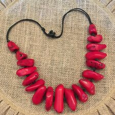 Chunky Red Coral Statement Necklace