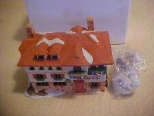 Department 56 Alpine Village Series Gasthof Eisl w/ Light & Box