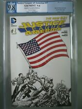 Justice League of America #1 RRP PGX 9.8 WP (like CGC) DC 2013 US Flag Cover