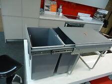 kitchen pull out dual bin 2x 20L bins heavy duty runners cabinet garbage rubbish