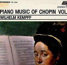"KEMPFF ""PIANO MUSIC OF CHOPIN: VOL. I"" LP 1977 london"