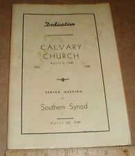 Calvary Evangelical & Reformed Church 1948 Thomasville North Carolina NC History