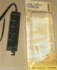 ISDN ANSCHLUß TERMINAL 1/5 SKYMASTER TELEFON FAX VERTEILER STECKDOSE 5-FACH NEU