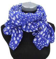 Écharpes et châles foulard bleu avec des motifs À Pois pour femme