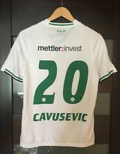 FC ST. GALLEN SWITZERLAND Džengis Čavušević CAVUSEVIC #20 2015/2016 HOME JERSEY