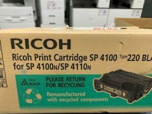 Genuine New Ricoh SP4100 Type 220A Black Print Toner Cartridge 407333 M889-72