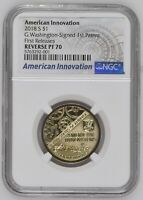 2018-S AMERICAN INNOVATIONS $1 GEORGE WASHINGTON SIGNED REVERSE PROOF70 NGC RP70