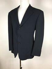 POLO RALPH LAUREN Black 100% Wool three button Jacket Sport coat 44 R
