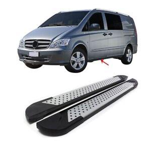 Kit 2 pedane laterali sottoporta in alluminio Mercedes Vito W639/Viano W447 *