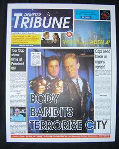Gerry Anderson SPACE PRECINCT - Demeter Tribune Newspaper prop made for TV show