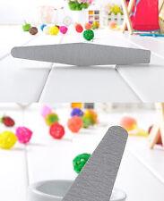 50 x NAIL FILES 100/180 Grey Diamond Double Side File Sanding Nail Art Tips