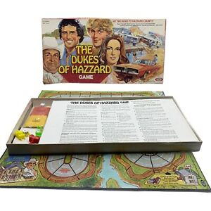 Vintage Rare Ideal, 1981 THE DUKES OF HAZZARD Board Game, ALMOST COMPLETE