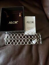 ALOR Cable Ribbon Bracelet Cuff Bangle MSRP $425