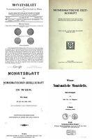 DVD 70 Bd Numismatische Zeitschrift Wiener Monatschefte Monatsblatt 1865-1923