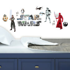 Star Wars VIII Peel and Stick Wall Decals Red Blue Gray Boys Room Decor Sticker