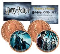 Harry Potter HALF-BLOOD PRINCE Colorized British Halfpenny 2-Coin Set *Licensed*
