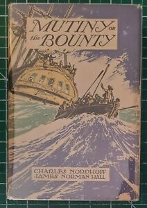 Mutiny on the Bounty by Charles Nordhoff & James Norman Hall SIGNED by Hall