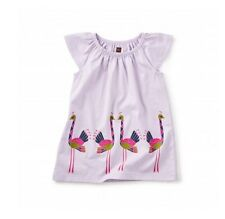 Tea Collection Ostriches Graphic Baby Dress 3-6M Infant Girls Gift Idea Purple