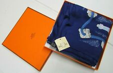 100% AUTHENTIC Hermes Scarf BOUTEILLES A LA MER 90cm Silk P.Peron MINT in BOX
